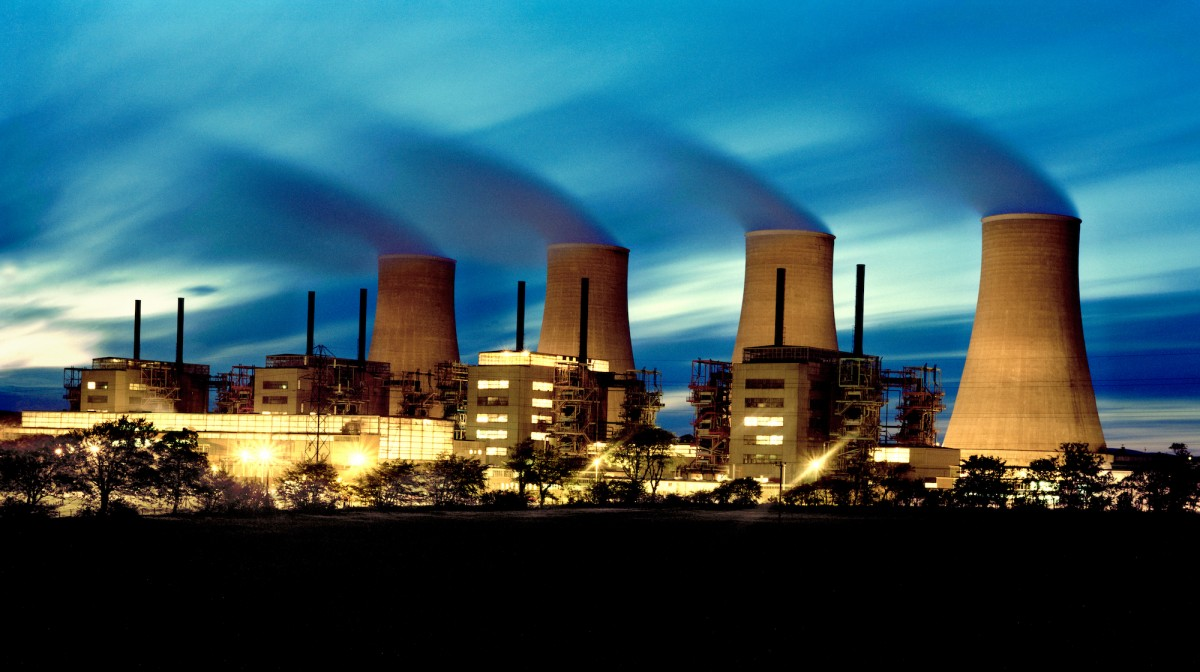 Chapelcross power station nightshot by Euan Adamson